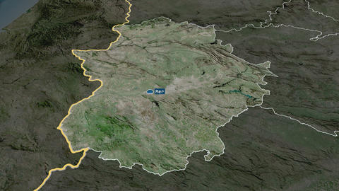 Extremadura - autonomous community of Spain. Satellite Animation
