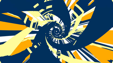 Spiral Impact - Navy / Orange Animation