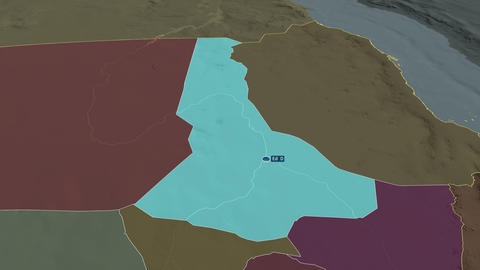 River Nile - state of Sudan. Administrative Animation