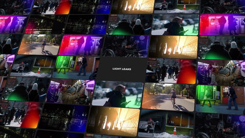 Light Leaks Pack After Effects Template