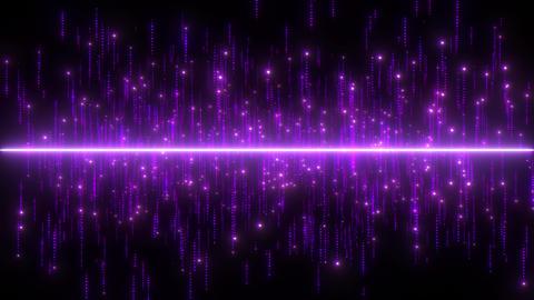 中央キラキラ パーティクル 紫 CG動画
