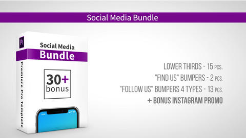 Social Media Bundle Apple Motion Template