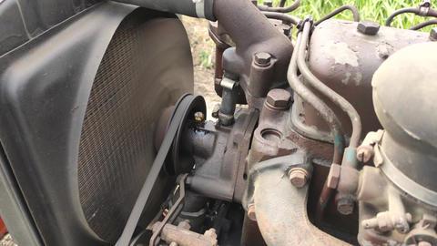 Diesel engine detail Live Action