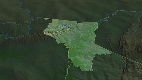 Savanes - region of Togo. Physical Animation