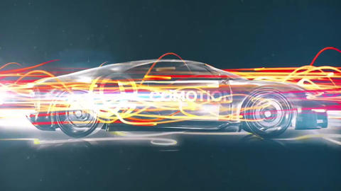 Fast Car Logo Reveal Premiere Pro Template