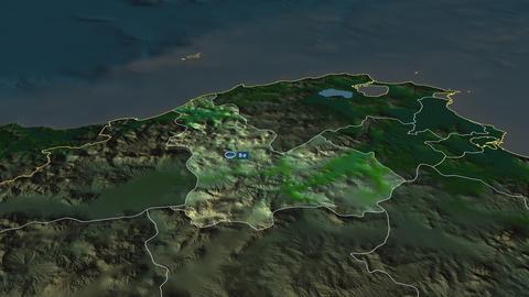 Béja - governorate of Tunisia. Physical Animation