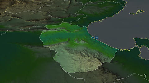 Gabès - governorate of Tunisia. Physical Animation