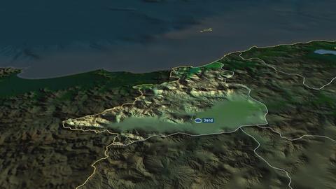 Jendouba - governorate of Tunisia. Physical Animation