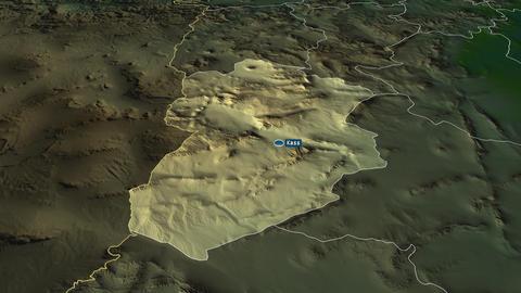 Kassérine - governorate of Tunisia. Physical Animation
