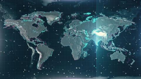 Red Radar Australia Map 4K Animation