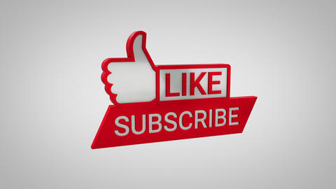 Like and Subscribe 3D Icon CG動画