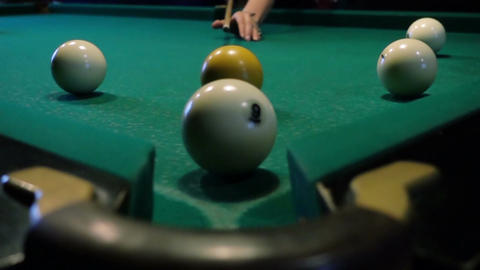 Pool Game, The Ball Gets In The Pocket Footage