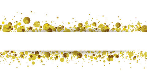 Golden glitter round particles video animation Animation