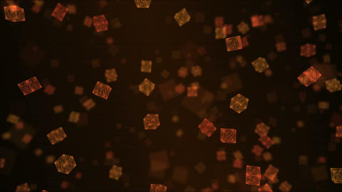 Falling Cubes Animation - Loop Red Animation