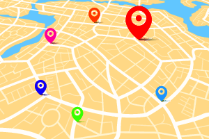 Map with destination location point 001 Vector