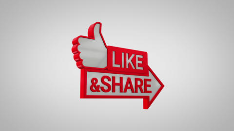 Like and Share 3D Icon CG動画