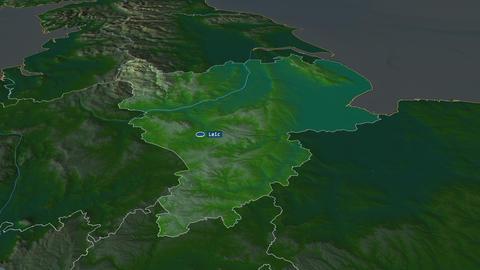 East Midlands - region of United-Kingdom. Physical Animation