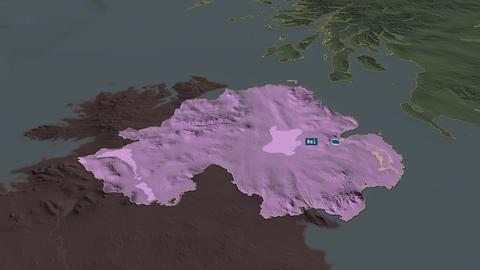 Northern Ireland - region of United-Kingdom. Administrative Animation