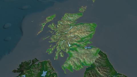 Scotland - region of United-Kingdom. Physical Animation