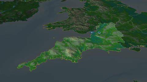 South West - region of United-Kingdom. Physical Animation