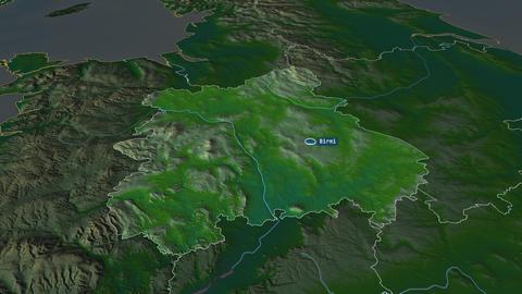 West Midlands - region of United-Kingdom. Physical Animation