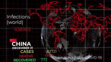 Coronavirus Spread Map After Effects Template
