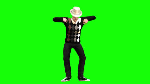 765 4k LIFESTYLE 3d animated avatar man doing two different dances Animation