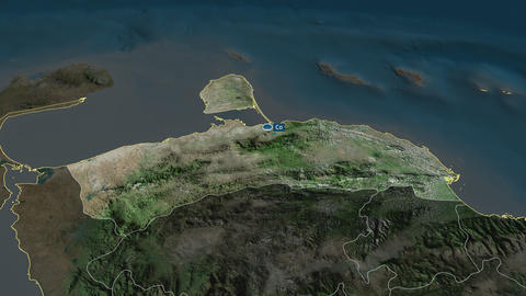 Falcón - state of Venezuela. Satellite Animation