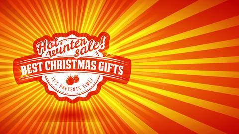 hot christmas selling call for excellent seasonal season gifts with red ball visual over glossy Animation