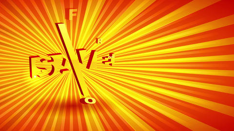 sparkling sale announcement with 3d numbers and font over sunshine scene for special discount offer Animation