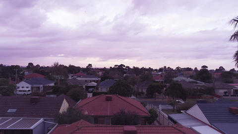 Birds eye aerial view of residential houses, Melbourne, Australia Live Action