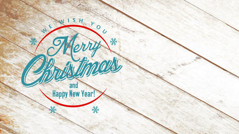 old-fashioned homely holiday announcement for present store wishing clients merry christmas and Animation