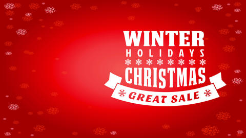 wintertime vacation transfer advertisement with large writing of different styles over intelligent Animation