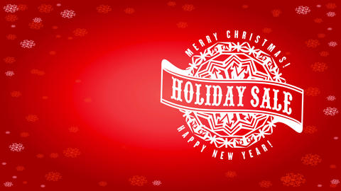magnificent holiday trading advertisement with red scene made with snowflakes template and rounded Animation