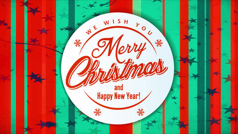 corporate christmas and new year celebration invitation card with traditional colors and ornaments Animation