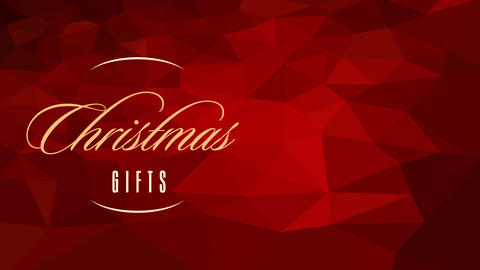 xmas gifts credit card concept science with yellow handwriting over 3d texture pattern composed with Animation