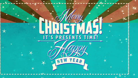 classic merry christmas and laughing new year mark with classic handwriting and layered scene with Animation