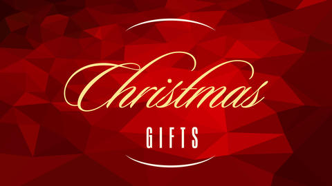 christmas gifts credit card concept art with golden calligraphy over 3d texture pattern composed Animation