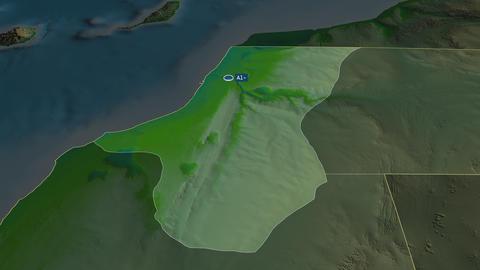 Laayoune - province of Western-Sahara. Physical Animation