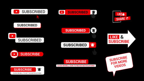 Subscribe Titles Motion Graphics Template
