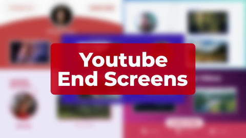 Youtube Endscreens After Effects Template