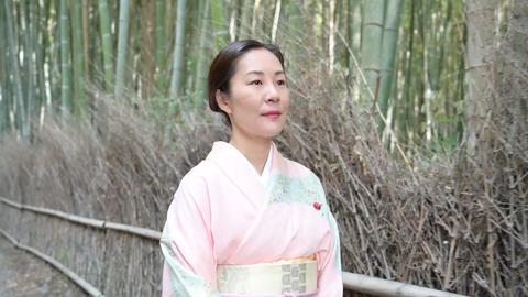 4K Kimono woman in Kyoto Live Action