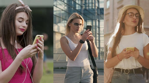 Multiscreen on People Using Smartphone in Everyday Life. People Using the Mobile Live Action