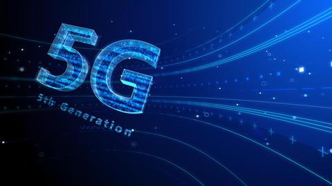 5G Digital Network technology 5th generation mobile communication concept background 6 blue2 4k Animation