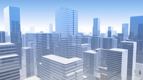 City Building Simple Modern Skyscraper business street background G2 sky 4k Animation