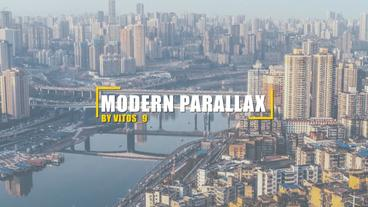 Modern parallax slideshow After Effects Project