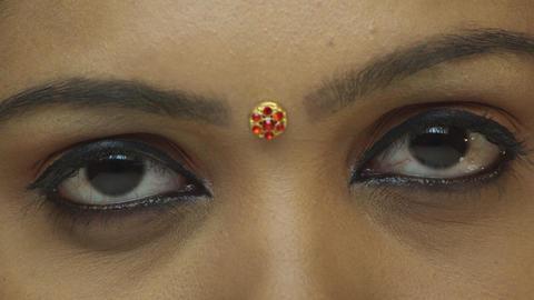 Young girl eye closeup Footage