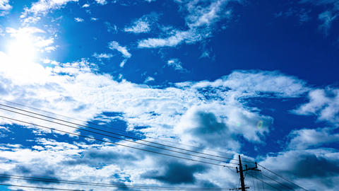 beautiful sky clouds timelapse blue sky nature Live Action