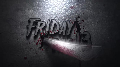 Friday The 13 Horror Title or Logo After Effects Template