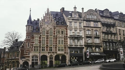 Views of Brussels, the capital city of Belgium, architecture and historical Live Action